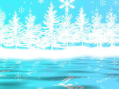 Vintern lake — Stockfoto