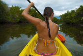 Kayaking Girl — Stock Photo