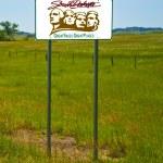 South Dakota Road Sign — Stock Photo
