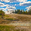 Yellowstone steaming lake — Stock Photo