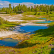 Thermal Pools Yellowstone — Stock Photo