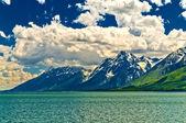 Jackson jezioro krajobraz — Zdjęcie stockowe