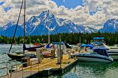 Colter Bay Marina on Jenny Lake — Stock Photo