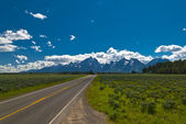 Road to Grand Tetons — Stock Photo