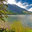 jackson lake and grant tetons — Stock Photo