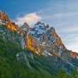 Stock Photo: Grand Tetons at Sunset