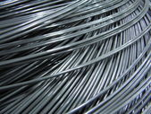 Close up of steel wire-wire — Stock Photo