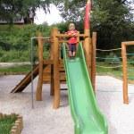 Slide at playground — Stock Photo