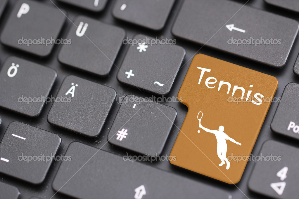 A Tennis with a keyboard  Stock Photo #8500285