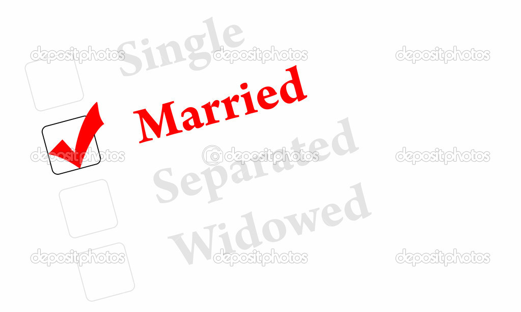 Married, single, separated or widowed  Stock Photo #8956957