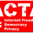ACTA sign - Stock Photo