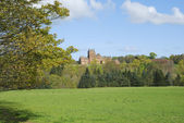 Ayton Castle from south, Berwickshire — Stock Photo