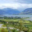 Panorama of Ullapool in north west highlands of scotland - Stock Photo