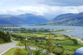 Panorama of Ullapool in north west highlands of scotland — Stock Photo
