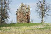 Greenknowe tower ruin — Stock Photo