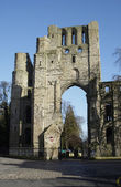 Kelso Abbey ruin — Foto Stock