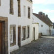 Medieval cobbled street in Culross, fife — Stock Photo #7983602