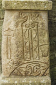 Ancient carved Pictish stone — Stock Photo