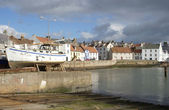 St. Monans harbour and fishing village — Stock Photo