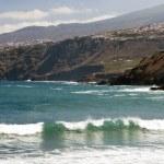 playa con olas — Foto de Stock