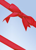 Vertical red ribbon — Stock Photo