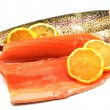 Trout fillets — Stock Photo