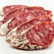 Stock Photo: Slices of Salchichon