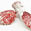 Pieces of Salchichon — Stock Photo