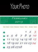 Calendar of february 2013 — Stock Photo