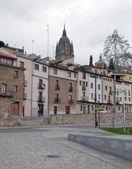 Facades of houses of Salamanca — Stock Photo