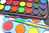 Caja de pinturas — Foto Stock