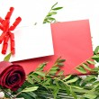 White card on red car — Stock Photo