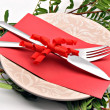Covered dish and gift card — Stockfoto #8724878