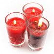 Three red candles — Stock Photo #8724906