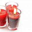Three red candles — Stock Photo #8724910