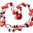 Bead rolled red — Stock Photo