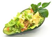 Stuffed avocado — Stock Photo