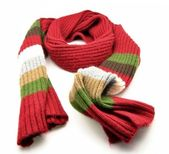Multi-colored scarf — Stock Photo