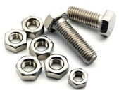 Two metal screws with washers — Stock Photo