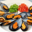 Plate of mussels — Stock Photo #9312800