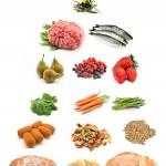 Healthy food pyramid — Stock Photo