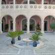 Stock Photo: Courtyard with a fountain