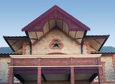 Facade of a colonial house — Stock Photo