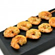 Skewer shrimp — Stock Photo