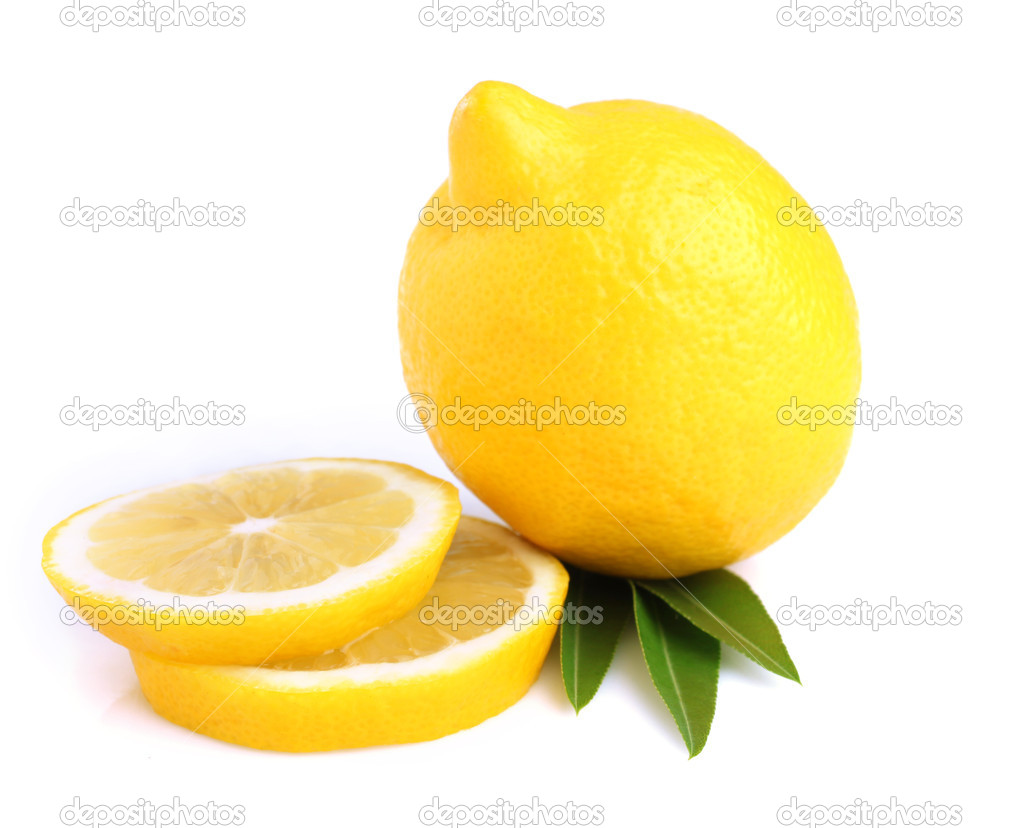 Sliced ??lemon on a white background  Stock Photo #10706850