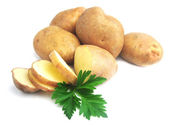 Potatoes on a white background — Stock Photo