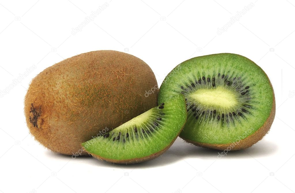 Kiwi on a white background. — Stock Photo #8418815