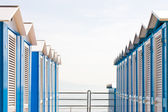 Blue Beach Huts — Stock Photo