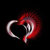 Coração de metal — Fotografia Stock