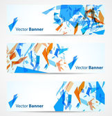 Abstract banners — Stok Vektör